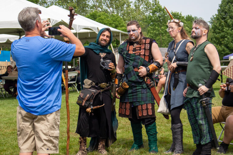 It wouldn't be a festival day without the LARPers!